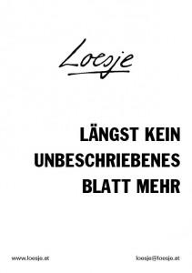 Loesje / Längst kein unbeschriebenes Blatt mehr
